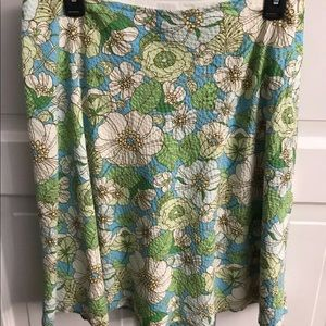Gap Womens Floral Quilted A-Line Skirt Size 4